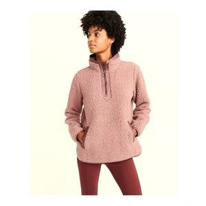 New Half Zip Pink Fleece Fuzzy Pullover